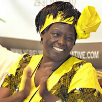 Wangari Maathai in Yellow